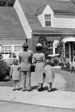 Stock Suburban Family