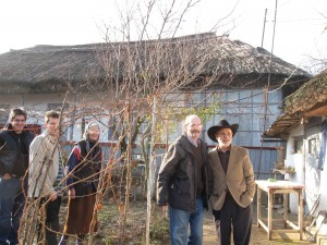 Mihail, Andy, Alexandru, and myself at the Gorova Farm