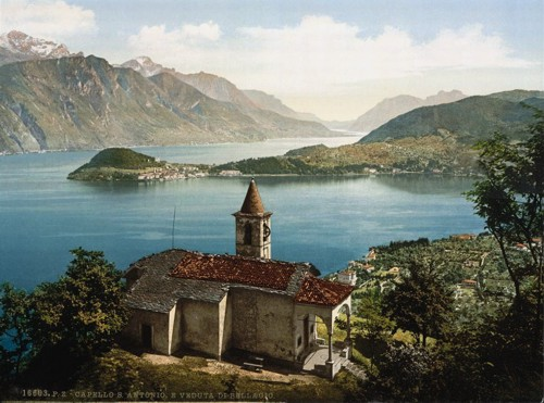 [Capello St. Angelo and view of Bellagio, Como, Lake of, Italy]