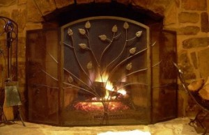 cabin hearth