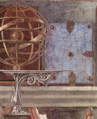 Botticelli, detail from St. Augustine in his Study