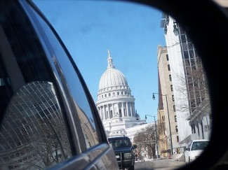 Capitol in Rear View Mirror