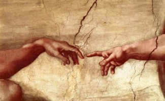 Michelangelo detail, Creation of Adam
