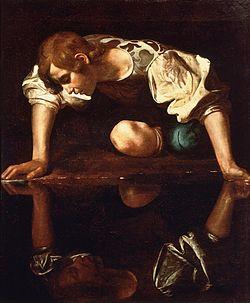 250px-Narcissus-Caravaggio_(1594-96)