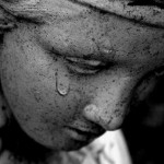 weeping statue