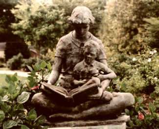 reading statue