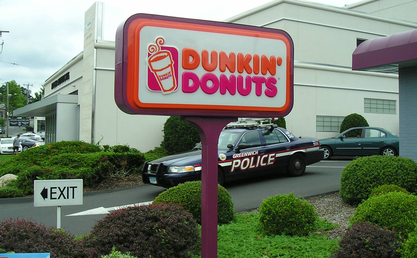 cop and donuts