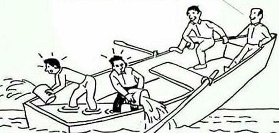 bailing cartoon